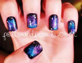 Best galaxy nail art photos blue maize