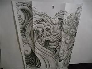 water waves tattoo design by tattoosuzette on DeviantArt