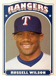 Image result for Russell Wilson Baseball Card