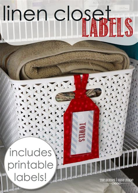 Linen Closet Labels (with Free Printable Labels!) The