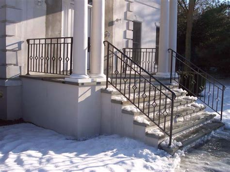 decorative iron stair railings exterior railings iron crafters