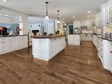 kitchen ideas with hardwood floors wood tile kitchen floor morespoons 411b9aa18d65 9387
