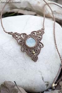 Makramee Kette Anleitung : pin auf halsketten necklace ~ Watch28wear.com Haus und Dekorationen