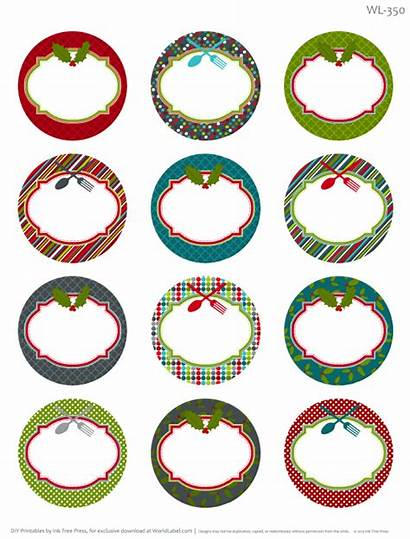 Labels Round Printable Christmas Label Homemade Templates