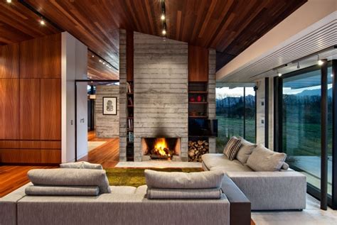 houses with fireplaces modern ranch style home with land loving layout and