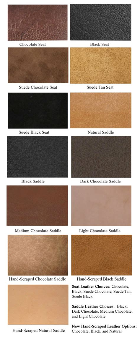leather color leather options saddle trail saddles by