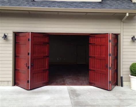 16 Ft Garage Door by Bi Fold Carriage Doors 16 Ft X 8 Ft Insulated Wood