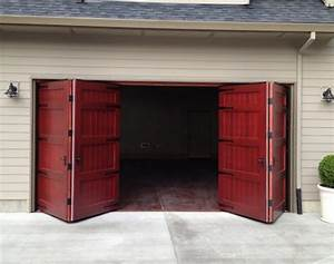 Bi fold carriage doors 16 ft x 8 ft insulated wood for 8 ft insulated garage door