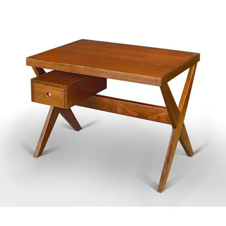bureau le corbusier teak desk chandigarh design