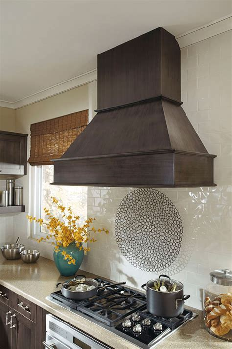 metal range hood kitchen craft cabinetry