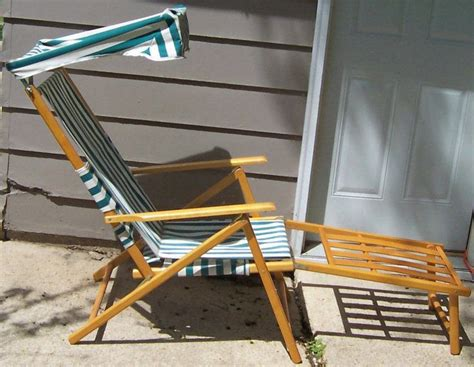 telescope chairs with canopy vintage telescope wood canvas folding pool deck