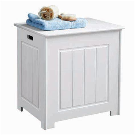 white wood storage chest with hinged lid 2400943 at