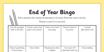 Last Day Of School Bingo Worksheet  Activity Sheet  End Of The