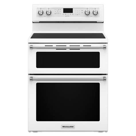 kitchen aid range kitchenaid kfed500ewh 6 7 cu ft electric oven