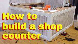 How to build a shop counter - shop fitting DIY - How to