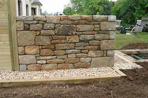 Construire Un Mur En Pierre : mur granit pierre de taille pont l 39 abbe quimper pays bigouden ~ Melissatoandfro.com Idées de Décoration