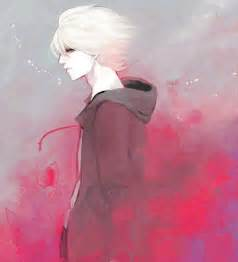 Anime Boy with White Hair