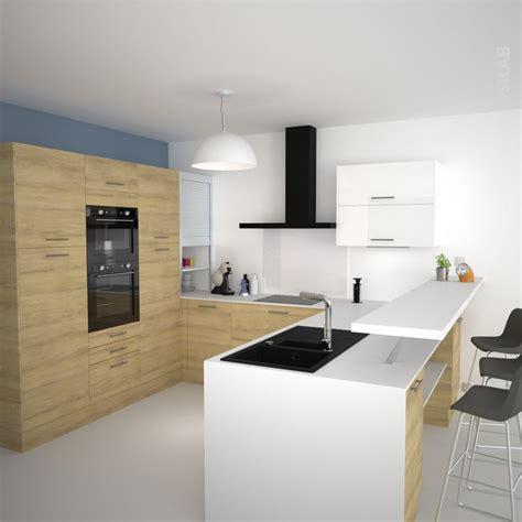plan de travail snack cuisine idée relooking cuisine cuisine en u avec meubles décor