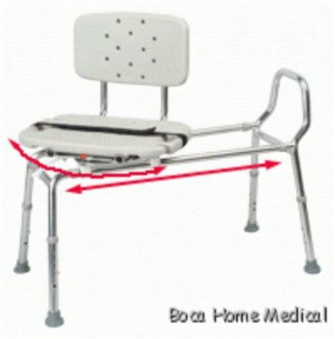 sliding shower bath transfer bench chair w swivel seat