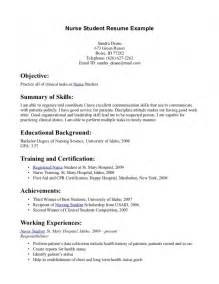 nursing resume format for freshers sles of resumes