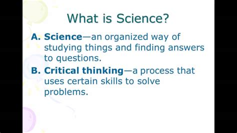 Definition Of Science Youtube