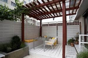 Idee De Pergola En Bois : protection solaire 55 id es pour la terrasse ext rieur ~ Melissatoandfro.com Idées de Décoration