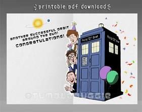 Doctor Who Birthday Card Printable