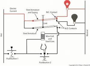 Latching Relay Circuit Diagram