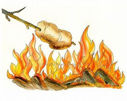 Clip Smores Clipart Roasting Marshmallow Marshmallows Bonfire