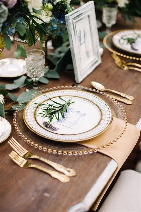 25 best ideas about gold table settings on