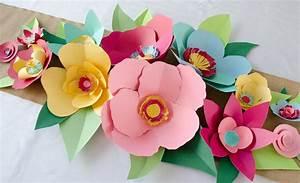 diy cut paper flowers project nursery