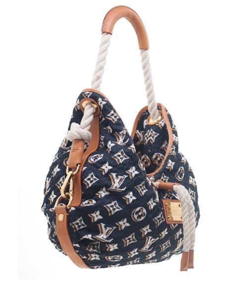 louis vuitton navy monogram bulles mm bag limited
