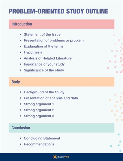 Problem Solution Outline Template by What Is A Study Outline Template Essaypro