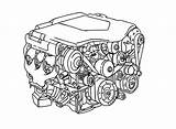 Parts Coloring Pages Engine Drawing Diagram Sketch Minor Template Gearbox Morris Getdrawings sketch template
