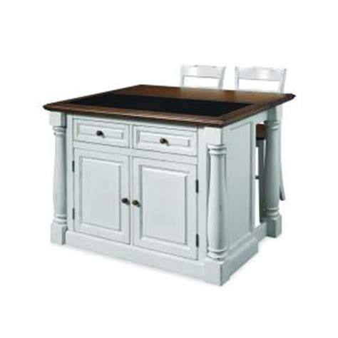 home styles monarch white kitchen island with seating 5021