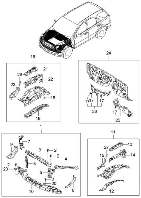 2003 Kia Sorento Fender Apron & Radiator Support Panel