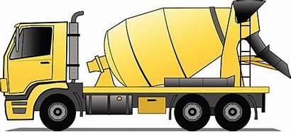 Concrete Vector Cement Mixer Truck Mixing Clip