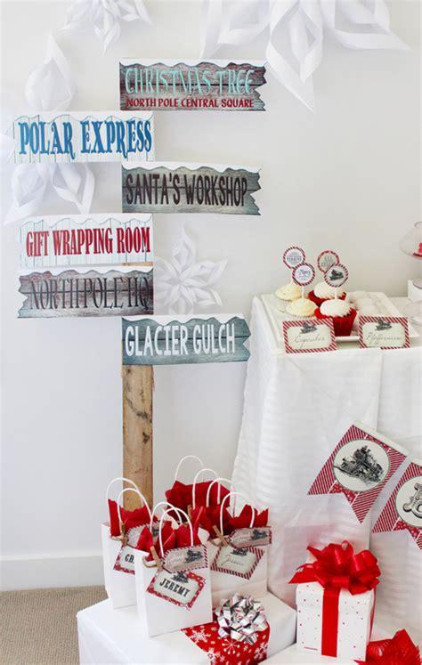 polar express sign post  printable  sassaby party