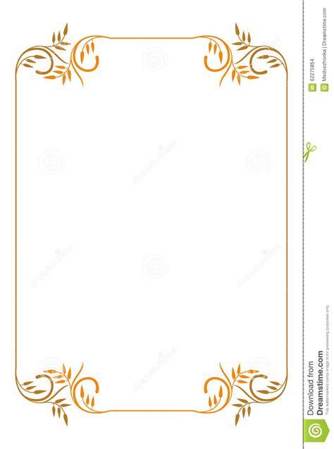 cadre pour texte gratuit cadre 233 l 233 gant avec les 233 l 233 ments floraux illustration de vecteur illustration 62275864