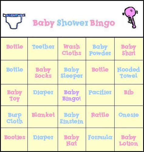 Baby Shower Bingo Free Printable by Baby Shower Bingo Free Printable Baby Shower Bingo Cards