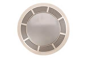 broan 751 fan and light with round white grille and glass