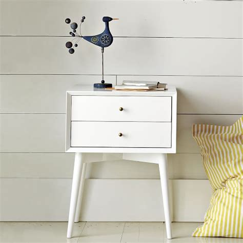 mid century nightstand white west elm