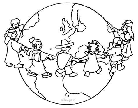 disegni bambini mondo da colorare midisegni con immagine mondo da colorare e bambini mondo 0