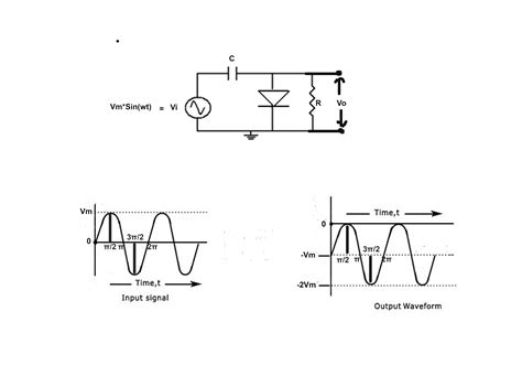 capacitor output  diode clamper circuit   sinusoidal wave input electrical engineering