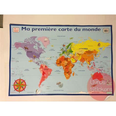 cuisine monsieur bricolage posters éducatifs ma première carte de monde