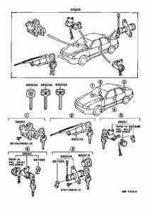 Toyota Avalon Cylinder  U0026 Key Set  Lock  Interior  Body