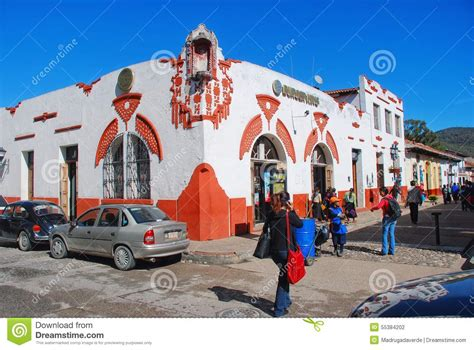 Streets of colonial town Oaxaca, Mexico Editorial Photography