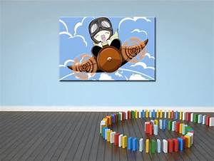 Tableau Chambre Enfant : tableau pour chambre enfant en toile plexi et alu th me avion ~ Teatrodelosmanantiales.com Idées de Décoration