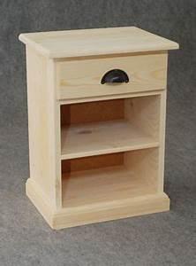 Table De Nuit Miroir : table de nuit bois brut 1 etag re 1 tiroir chevet aubry ~ Teatrodelosmanantiales.com Idées de Décoration