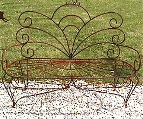 Wrought Iron Butterfly Bench  Metal Seating